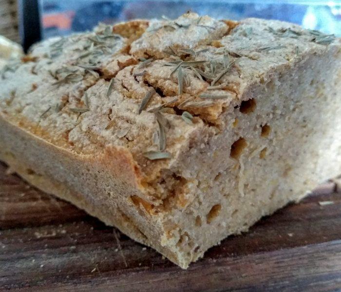 Pan sin gluten de calabaza y sarraceno