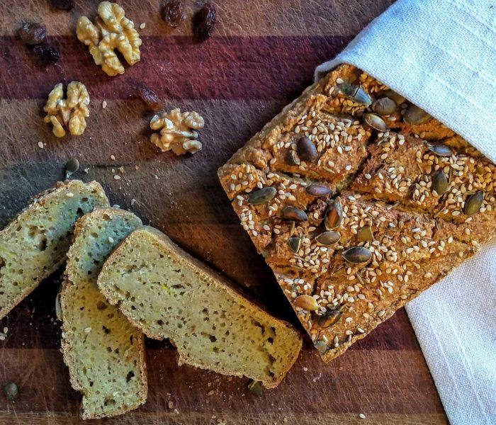 Pan sin gluten de arroz y sarraceno