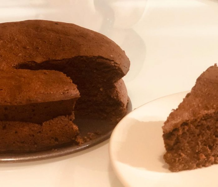 Pastel de chocolate y almendras, sin gluten