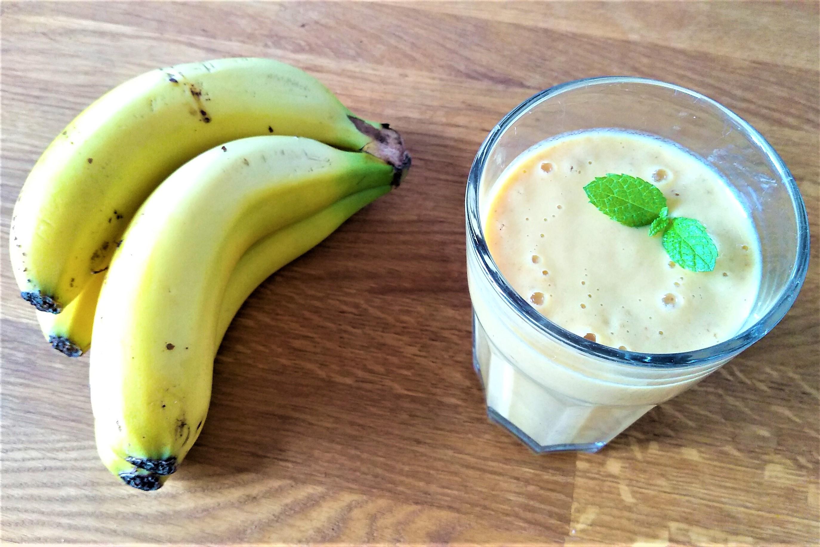 Banana smoothie au beurre de cacahuète