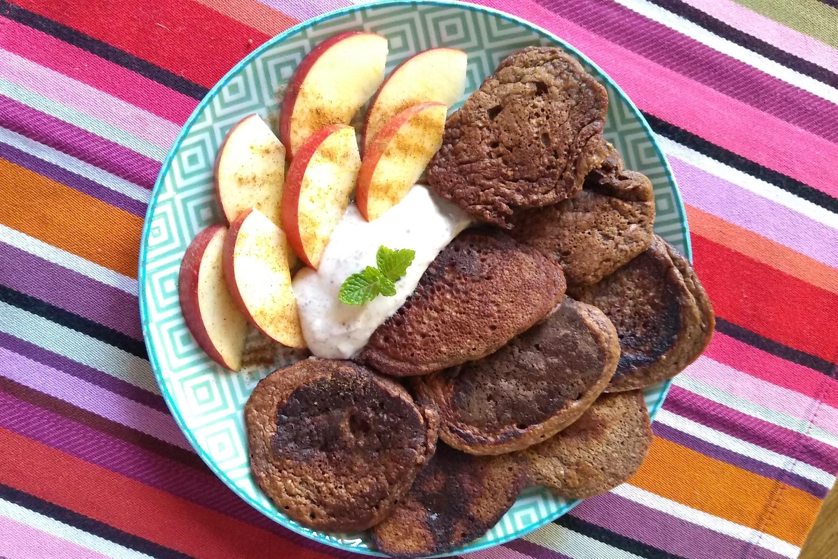 Choco pancakes, ¡sin azúcar!