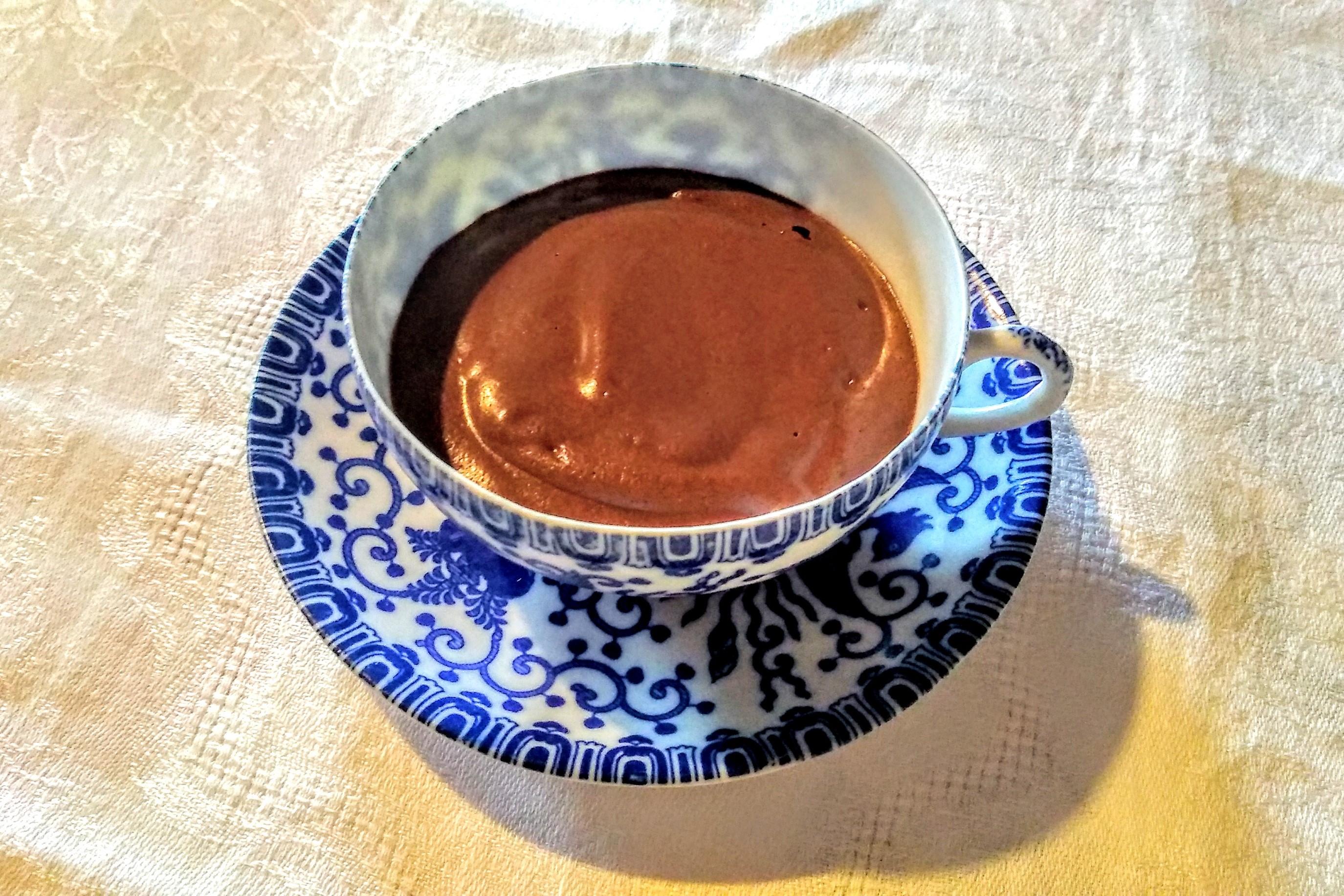 Mousse de chocolate 100% vegetal con aquafaba